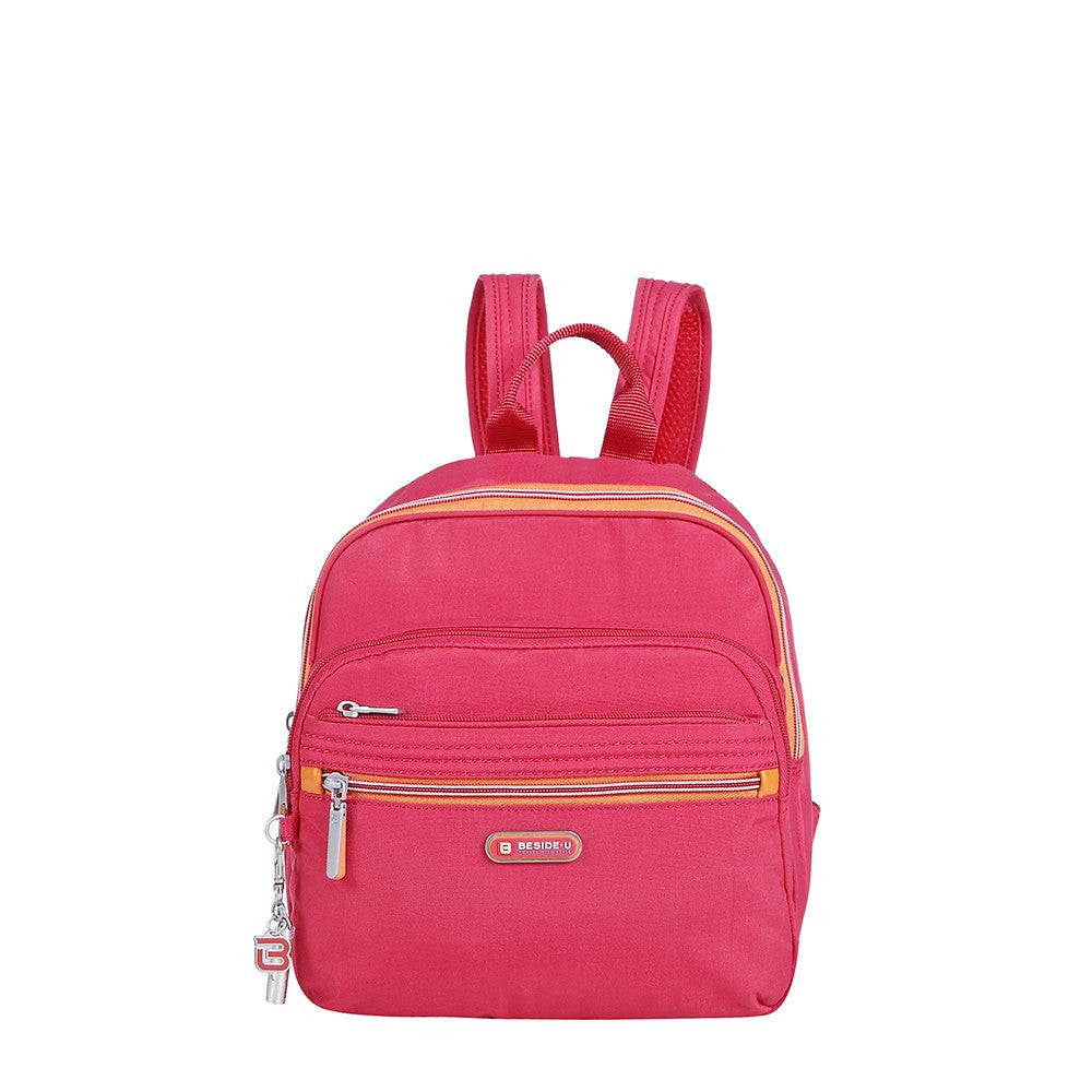 Backpack - Majorca Two-Tone Leisure Travel Backpack Front [Heart Red]