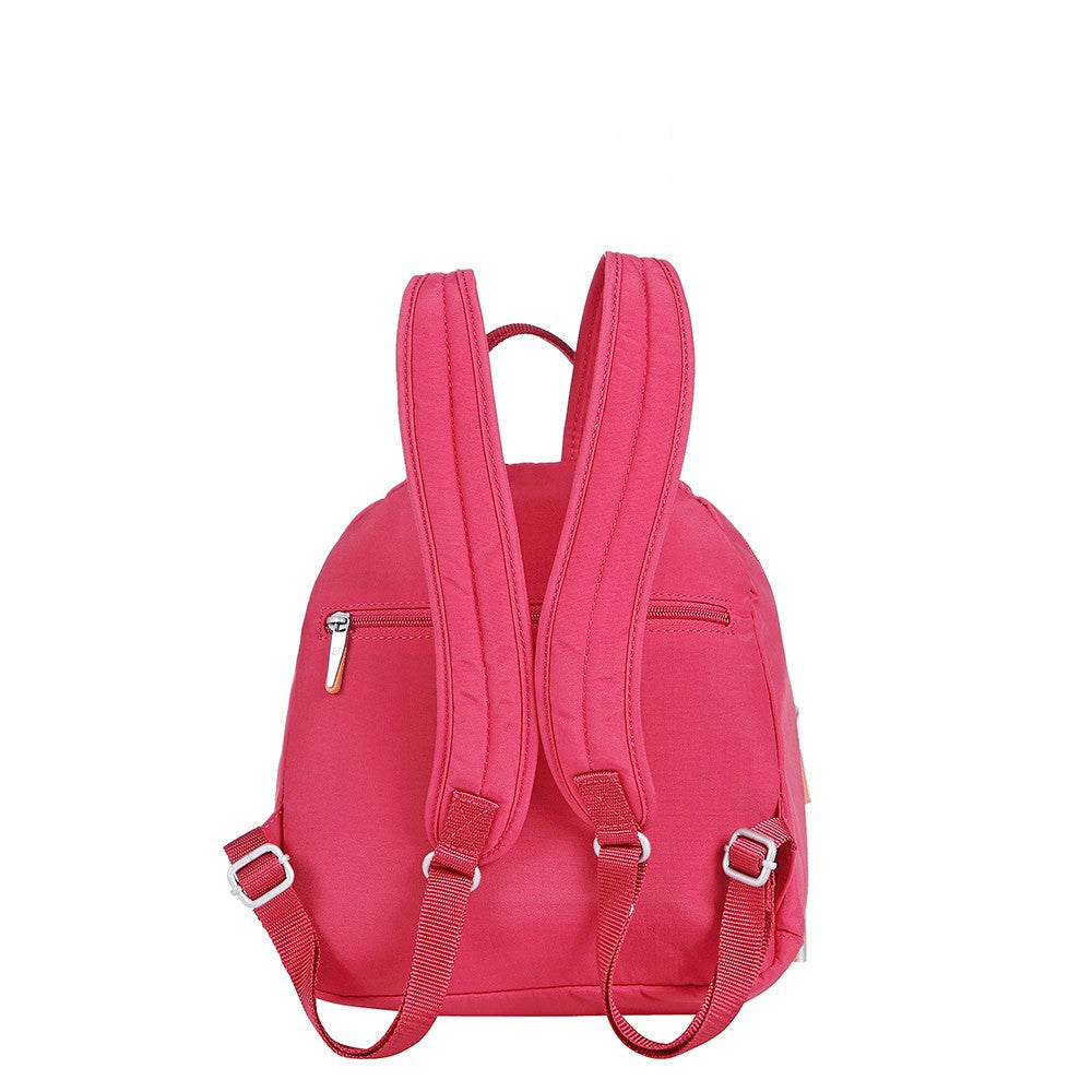Backpack - Majorca Two-Tone Leisure Travel Backpack Back [Heart Red]