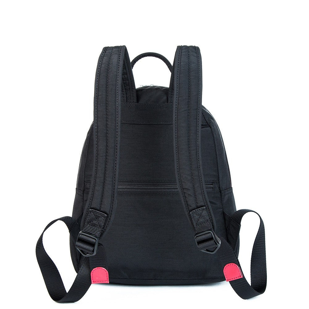 Backpack - Versailles Two-Tone Casual Backpack Back [Black And Dark Red]