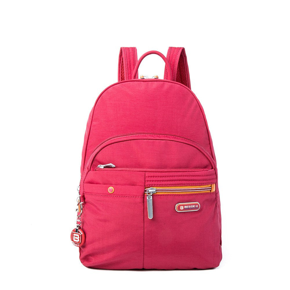 Backpack - Versailles Two-Tone Casual Backpack Front [Heart Red]