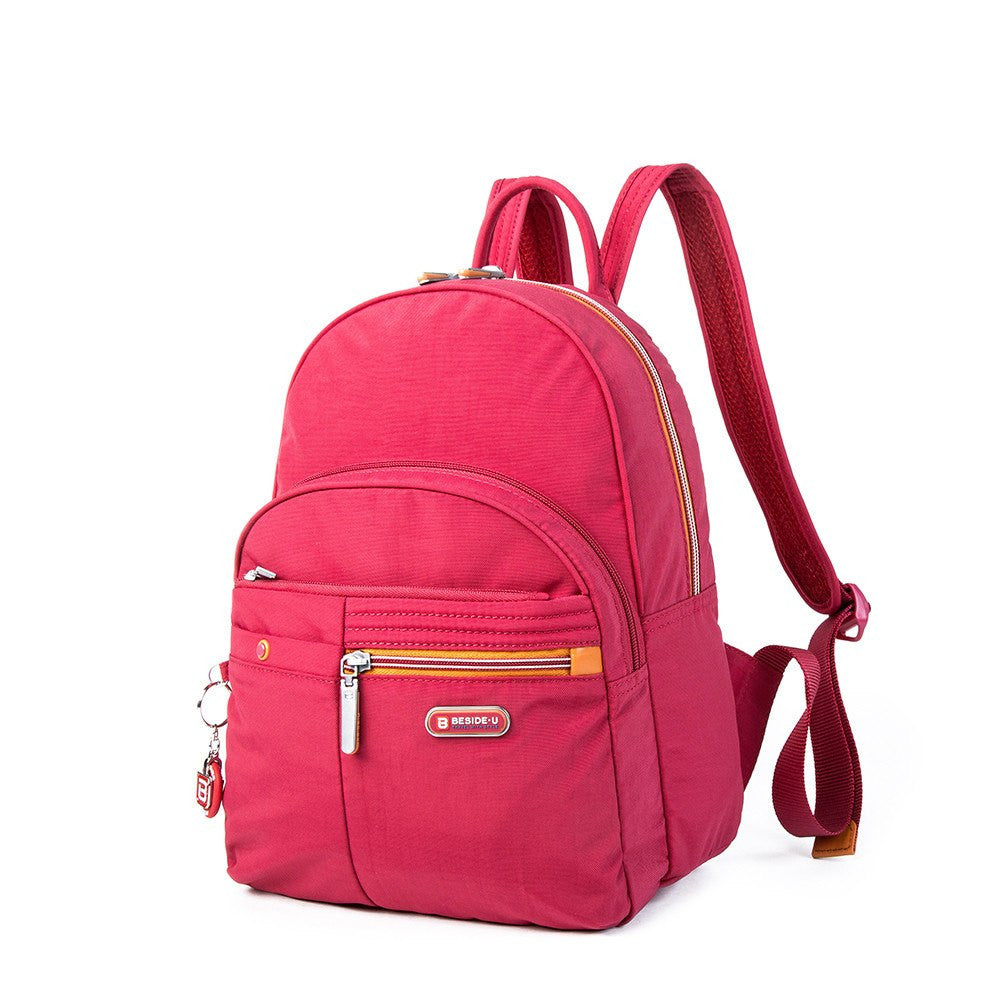 Backpack - Versailles Two-Tone Casual Backpack Angled [Heart Red]