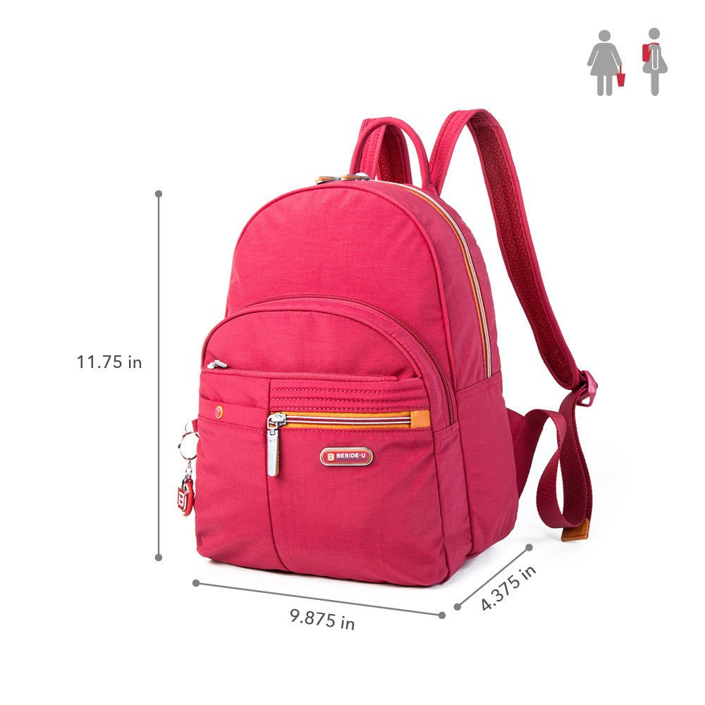 Backpack - Versailles Two-Tone Casual Backpack Size [Heart Red]