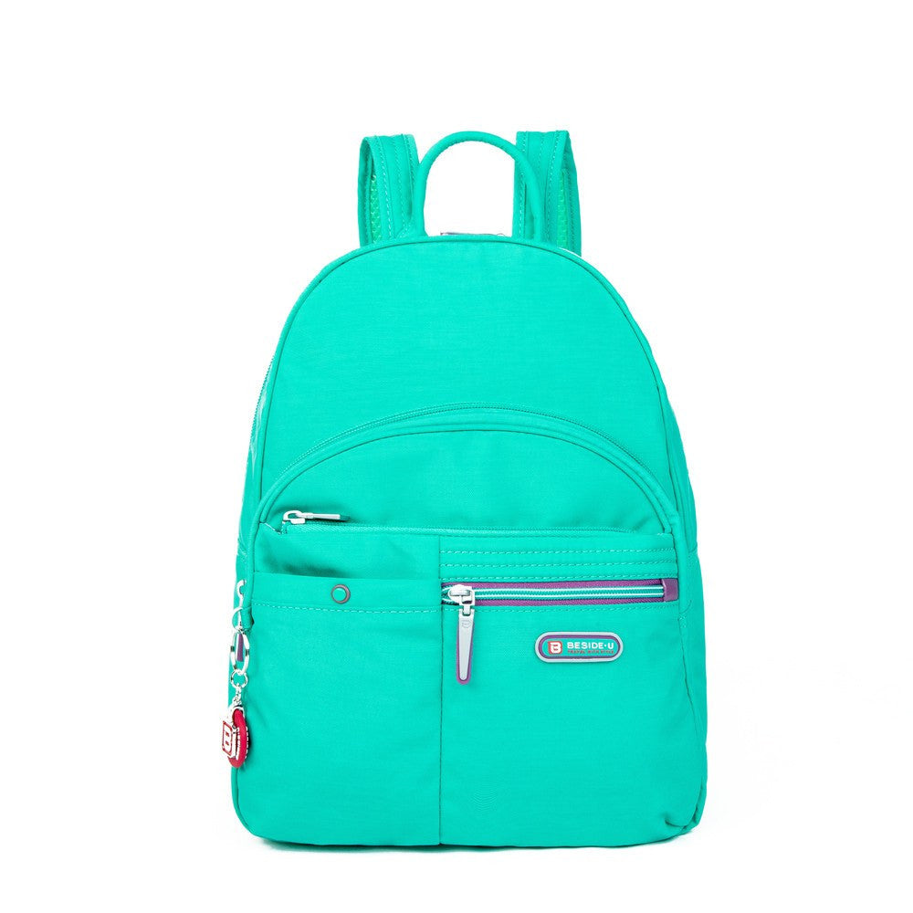 Backpack - Versailles Two-Tone Casual Backpack Front [Atlantis Teal Blue]