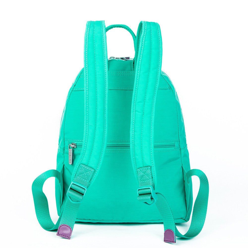 Backpack - Versailles Two-Tone Casual Backpack Back [Atlantis Teal Blue]