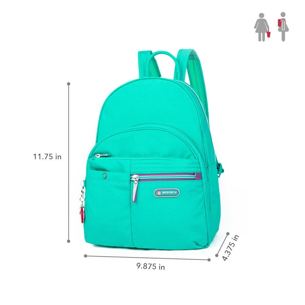 Backpack - Versailles Two-Tone Casual Backpack Size [Atlantis Teal Blue]