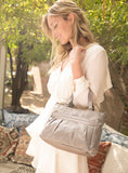 Satchel Handbag - Mina Satchel Bag Model Sabbia Beige