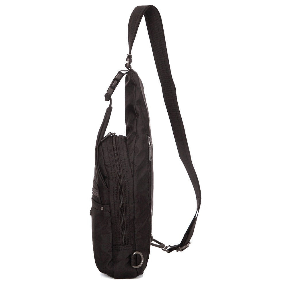 Crossbody Bag - Azusa RFID Pocket Crossbody Sling Bag Side [Black]