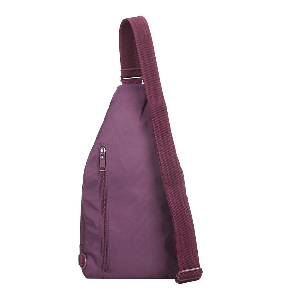 Crossbody Bag - Azusa RFID Pocket Crossbody Sling Bag Back [Wineberry Purple]