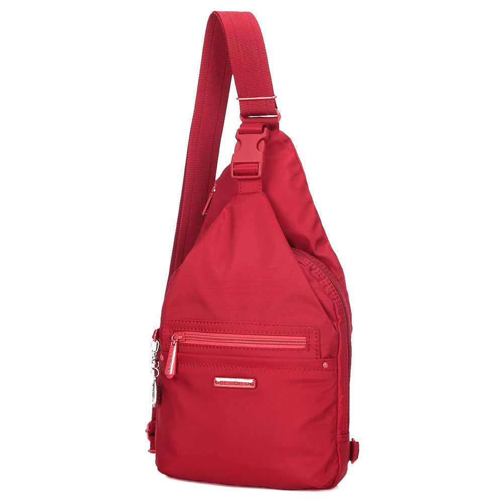 Crossbody Bag - Azusa RFID Pocket Crossbody Sling Bag Angled [Jester Red]