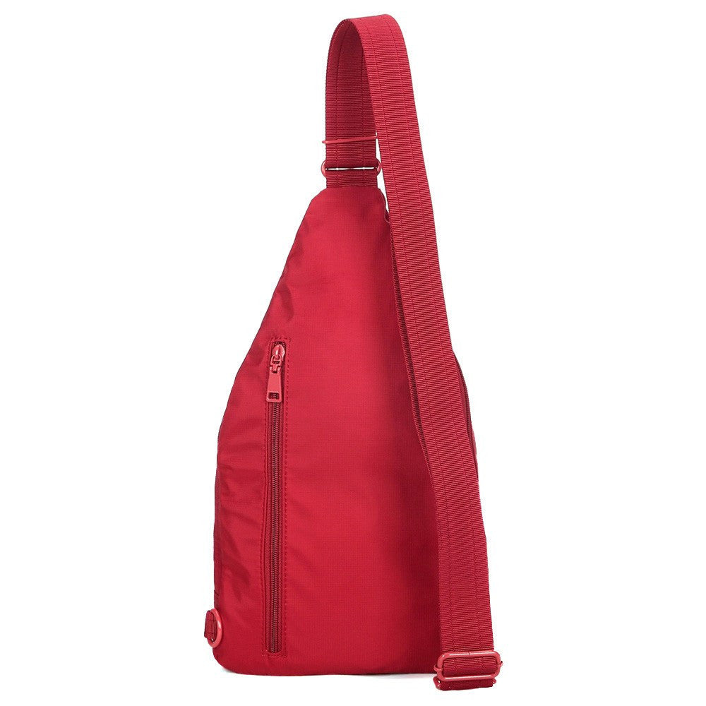 Crossbody Bag - Azusa RFID Pocket Crossbody Sling Bag Back [Jester Red]