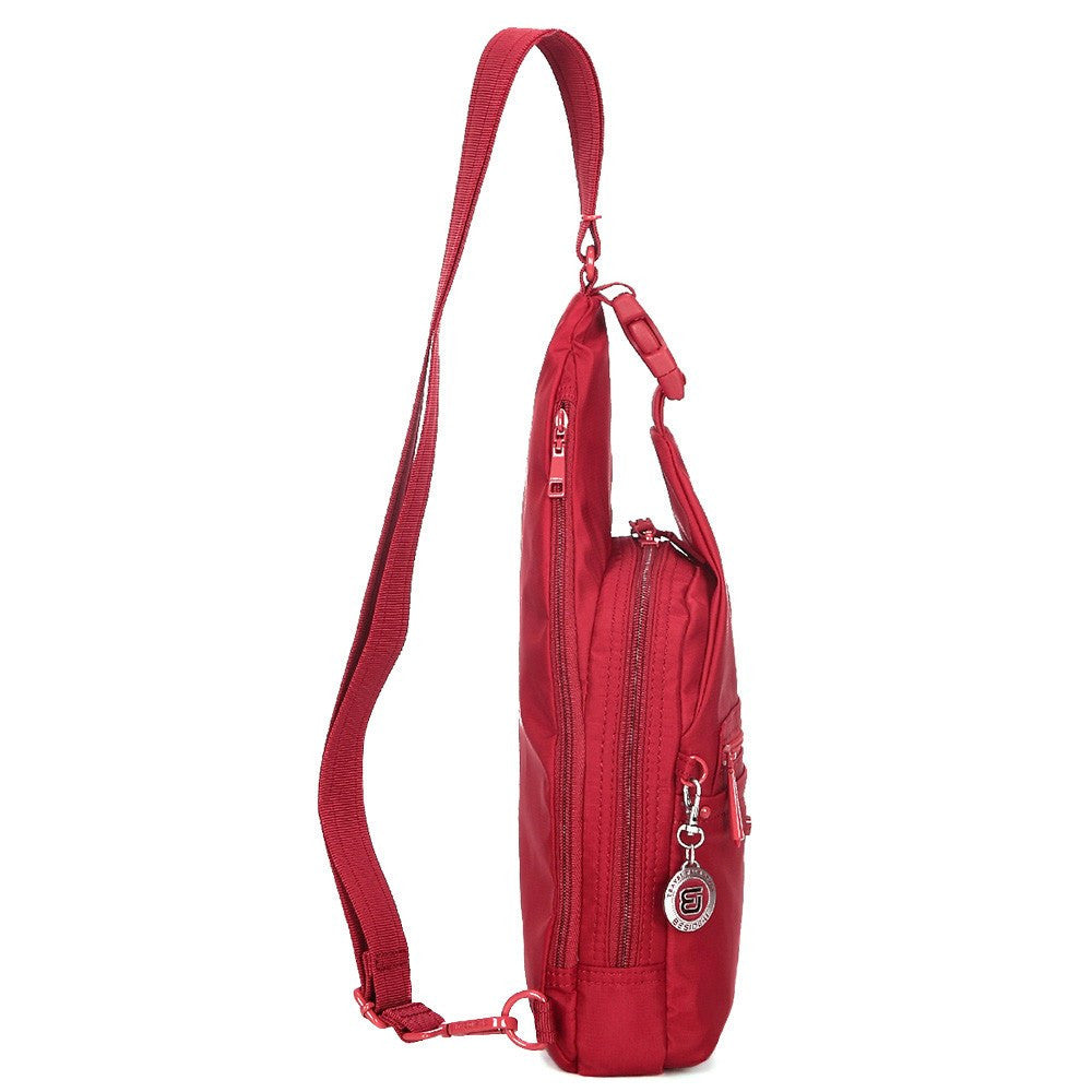 Crossbody Bag - Azusa RFID Pocket Crossbody Sling Bag Side [Jester Red]