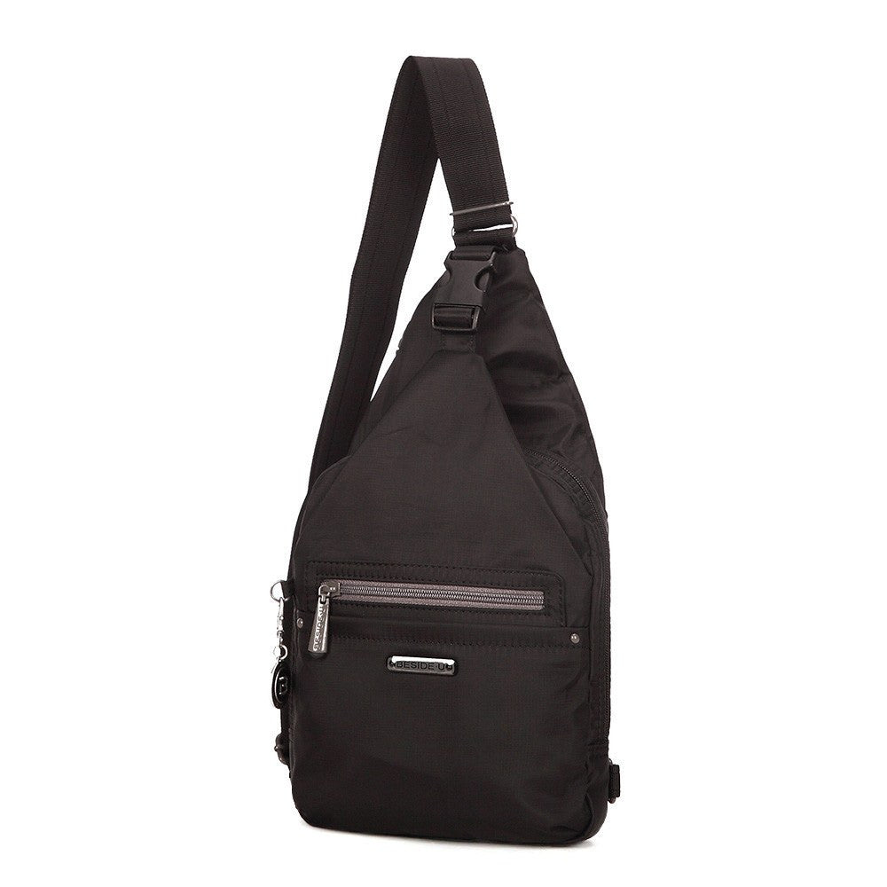 Crossbody Bag - Azusa RFID Pocket Crossbody Sling Bag Angled [Black]