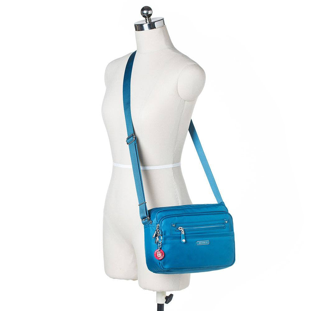 Crossbody Bag - Baker Leather Trimmed Medium Crossbody Bag With Round Dangle Mannequin