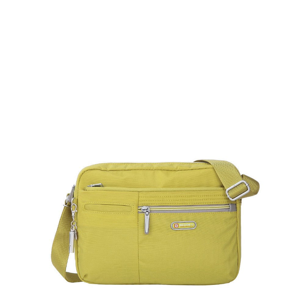 Crossbody Bag - Borah Two-Tone Medium Crossbody Bag Front [Citronelle Green]