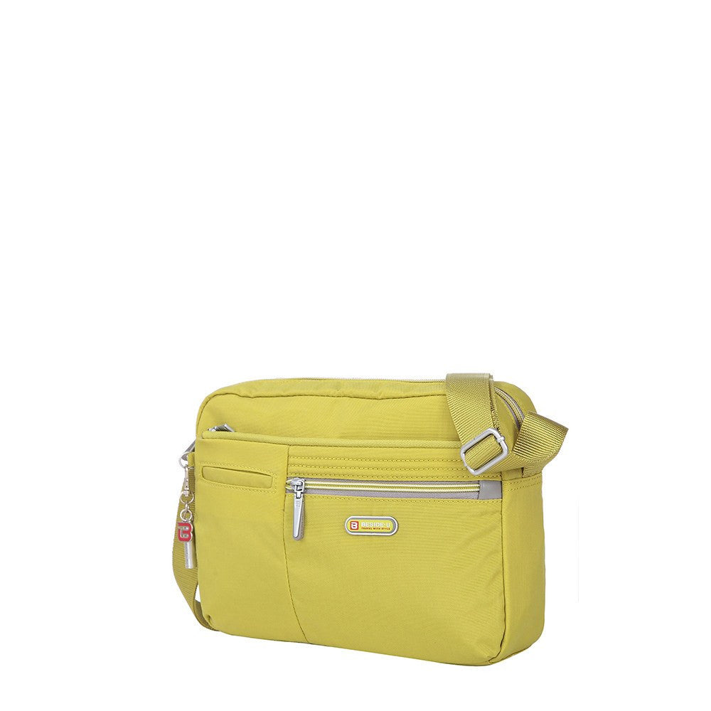 Crossbody Bag - Borah Two-Tone Medium Crossbody Bag Angled [Citronelle Green]