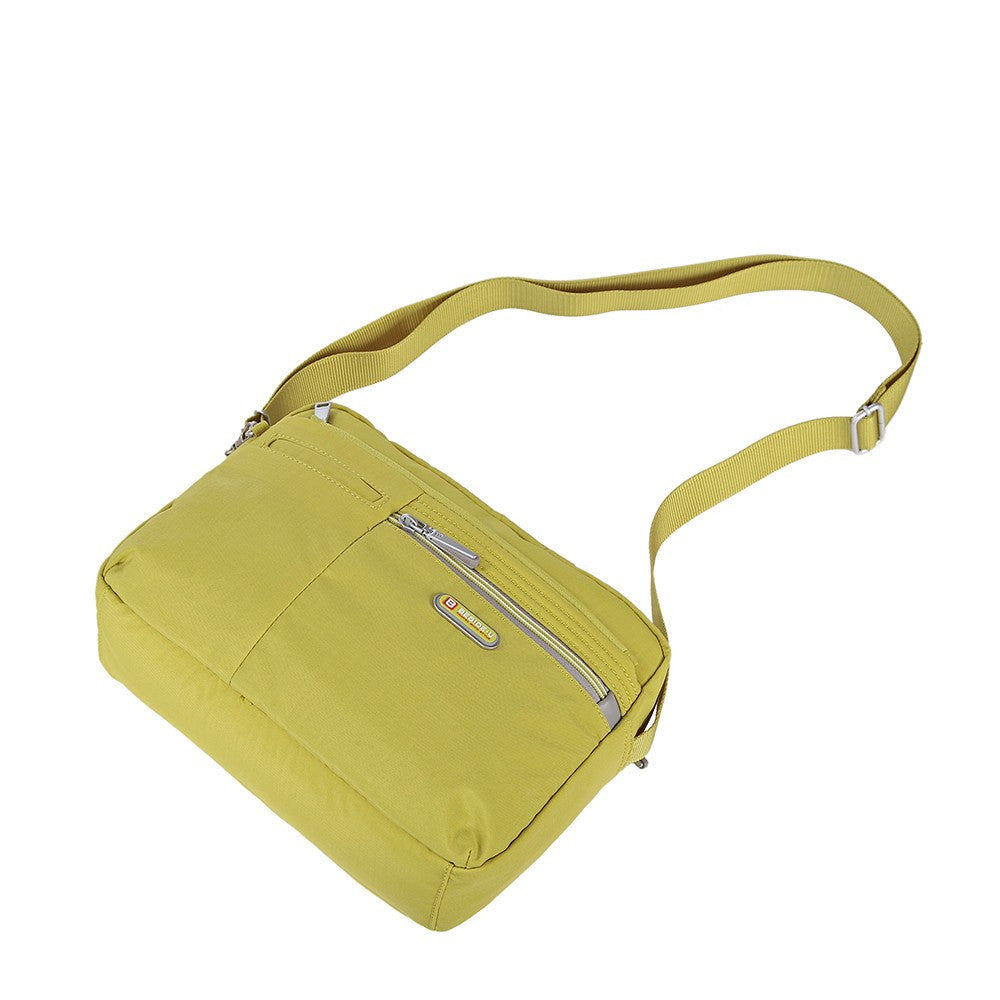 Crossbody Bag - Borah Two-Tone Medium Crossbody Bag Lying Down [Citronelle Green]