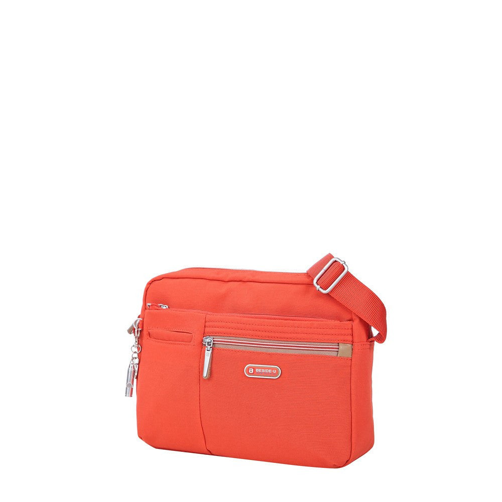 Crossbody Bag - Borah Two-Tone Medium Crossbody Bag Angled [Sweet Orange]