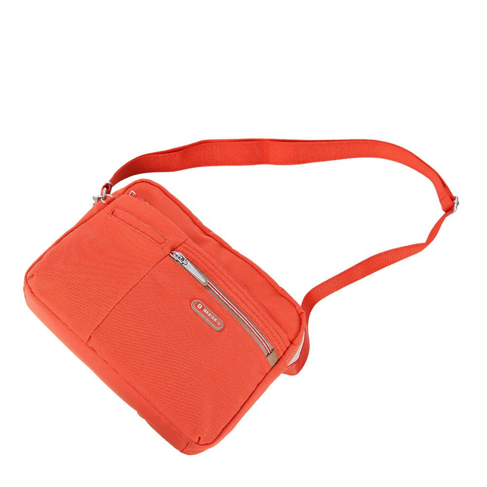 Crossbody Bag - Borah Two-Tone Medium Crossbody Bag Lying Down [Sweet Orange]