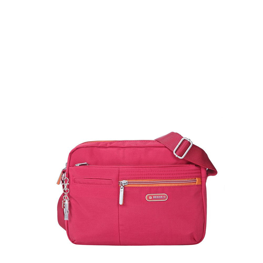 Crossbody Bag - Borah Two-Tone Medium Crossbody Bag Front [Heart Red]