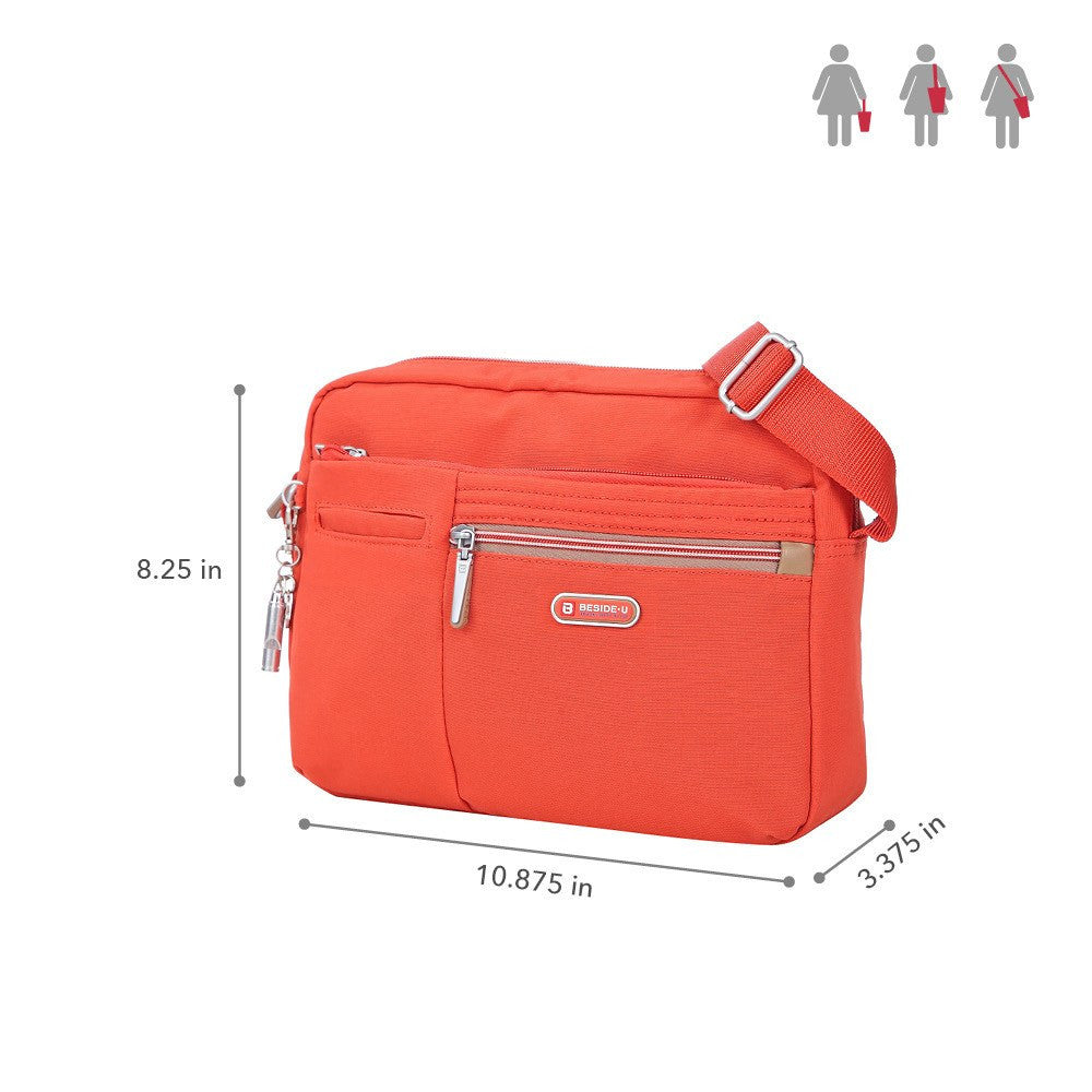 Crossbody Bag - Borah Two-Tone Medium Crossbody Bag Size [Sweet Orange]