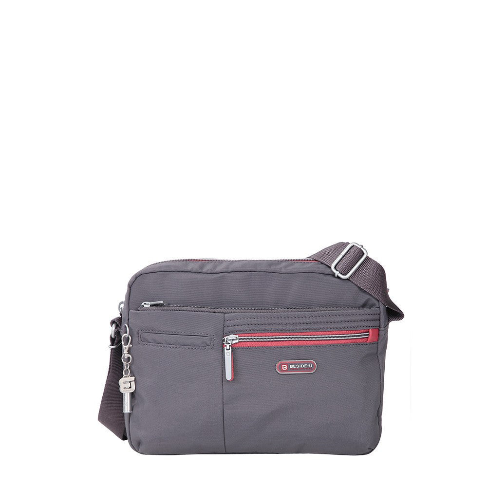 Crossbody Bag - Borah Two-Tone Medium Crossbody Bag Front [Rabbit Grey]