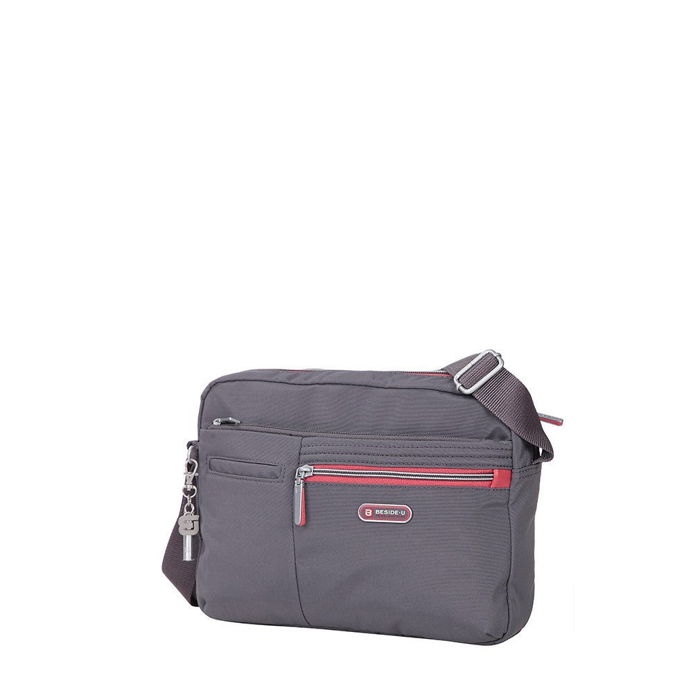 Crossbody Bag - Borah Two-Tone Medium Crossbody Bag Angled [Rabbit Grey]