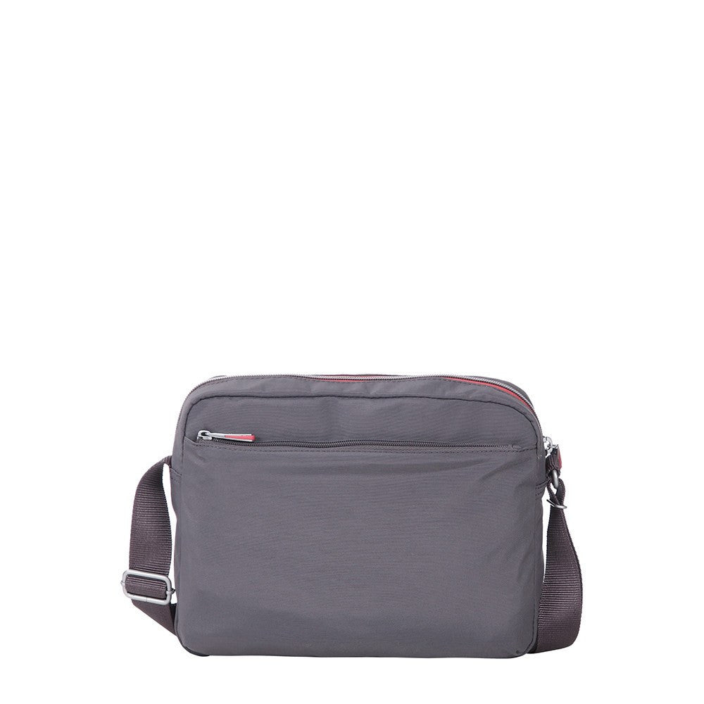 Crossbody Bag - Borah Two-Tone Medium Crossbody Bag Back [Rabbit Grey]