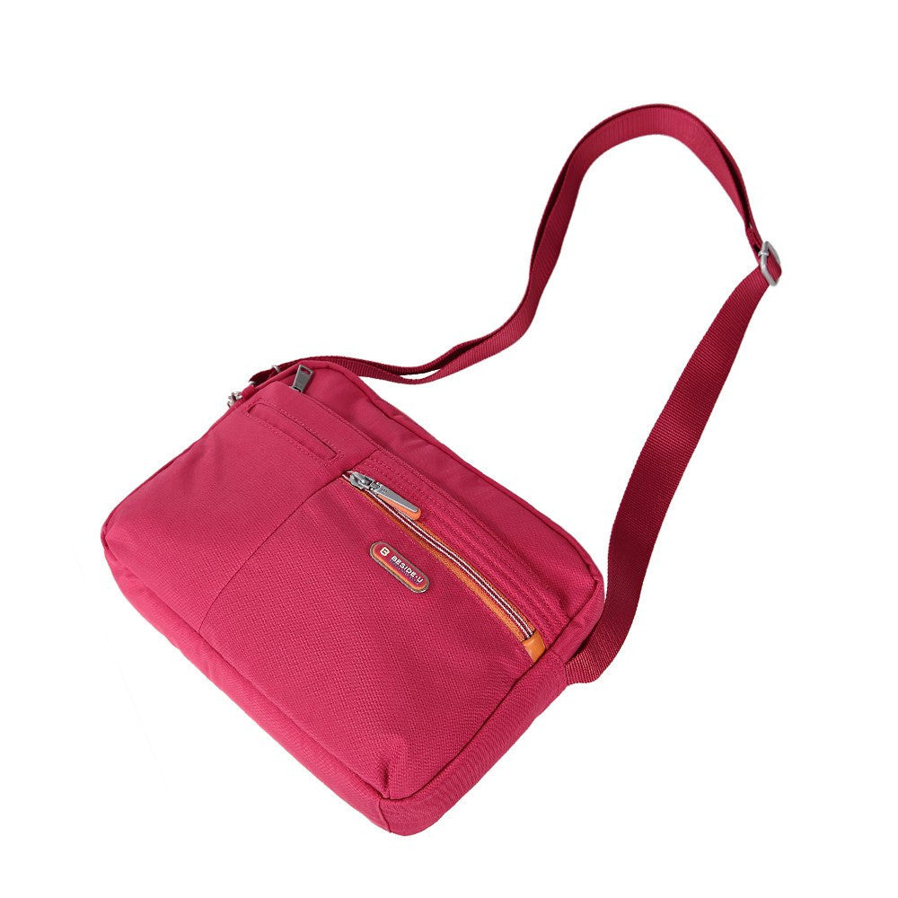 Crossbody Bag - Borah Two-Tone Medium Crossbody Bag Lying Down [Heart Red]