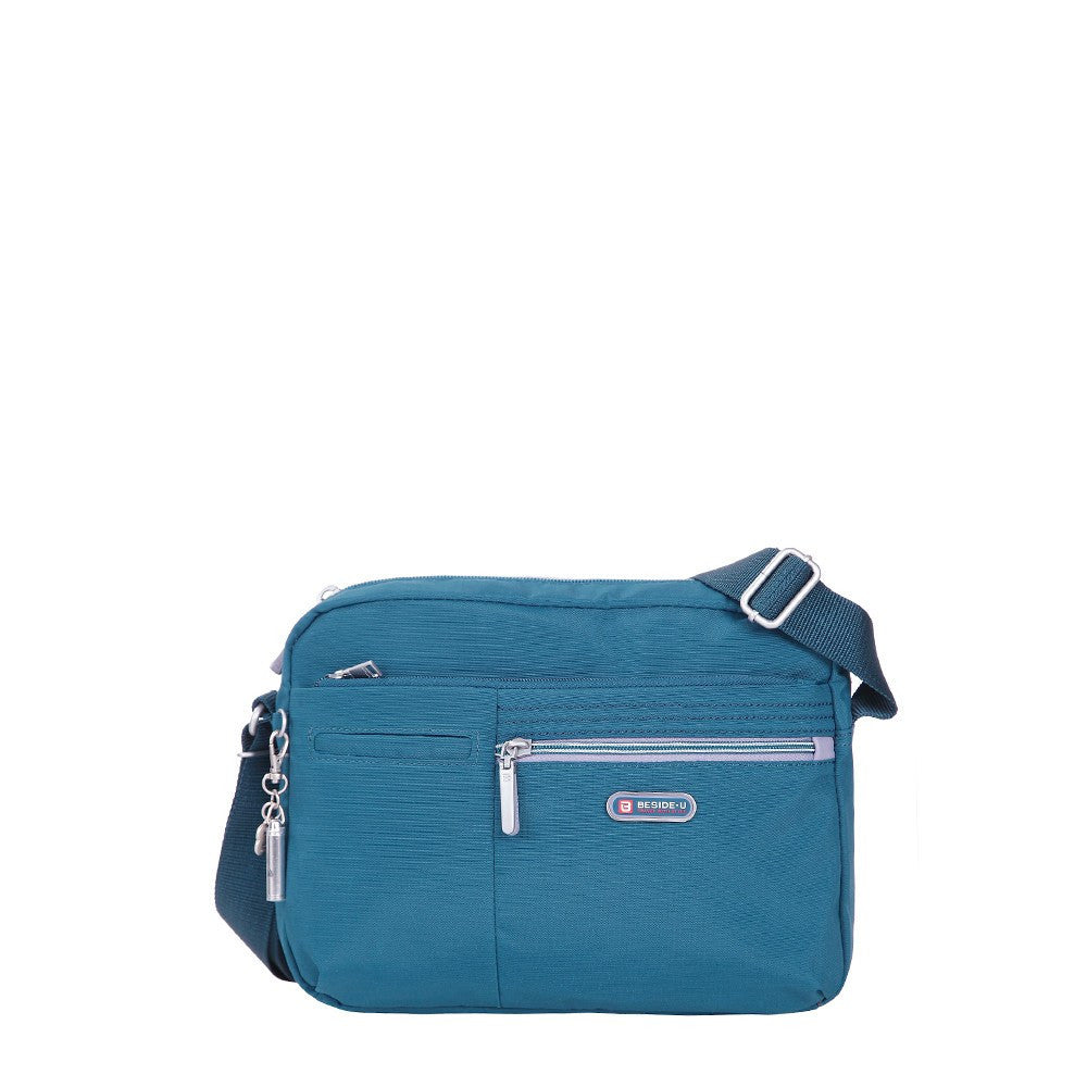 Crossbody Bag - Borah Two-Tone Medium Crossbody Bag Front [Navy Blue]