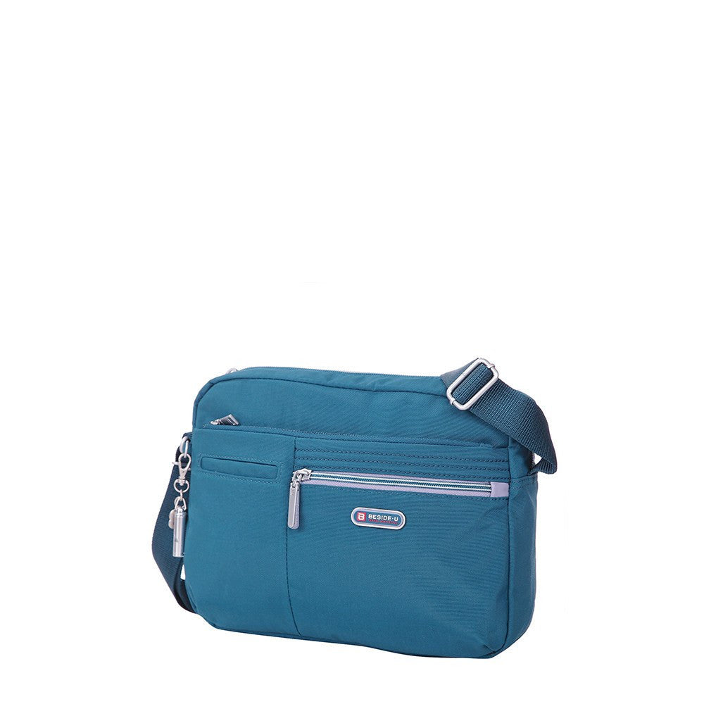 Crossbody Bag - Borah Two-Tone Medium Crossbody Bag Angled [Navy Blue]