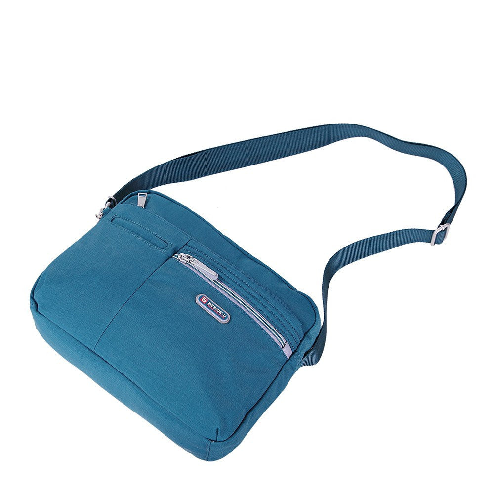 Crossbody Bag - Borah Two-Tone Medium Crossbody Bag Lying Down [Navy Blue]
