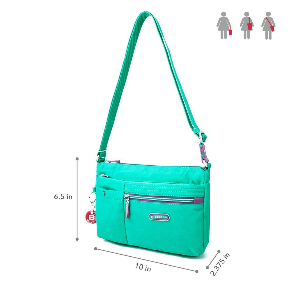 Crossbody Bag - Cimarron Two-Tone Small Crossbody Bag Size [Atlantis Teal Blue]