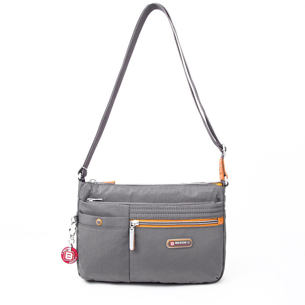 Crossbody Bag - Cimarron Two-Tone Small Crossbody Bag Front [Castlerock Grey]
