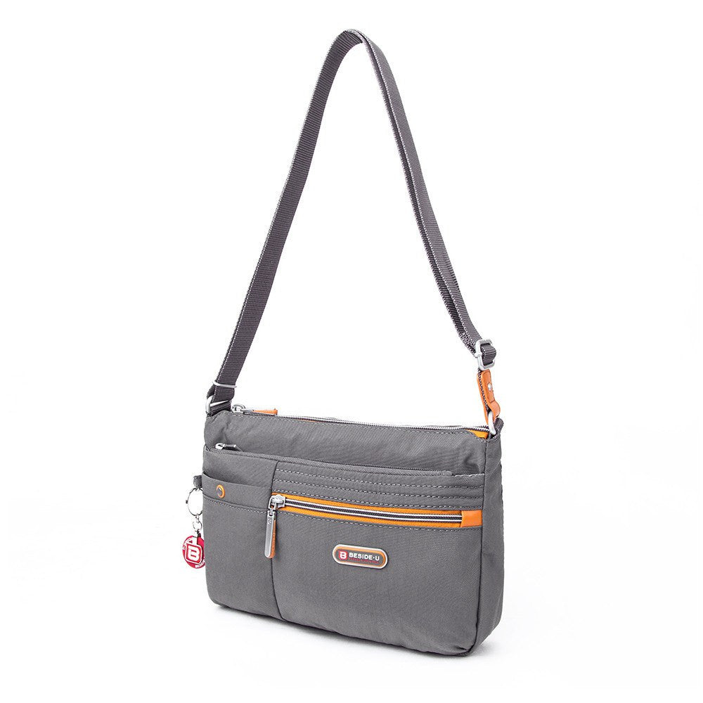 Crossbody Bag - Cimarron Two-Tone Small Crossbody Bag Angled [Castlerock Grey]