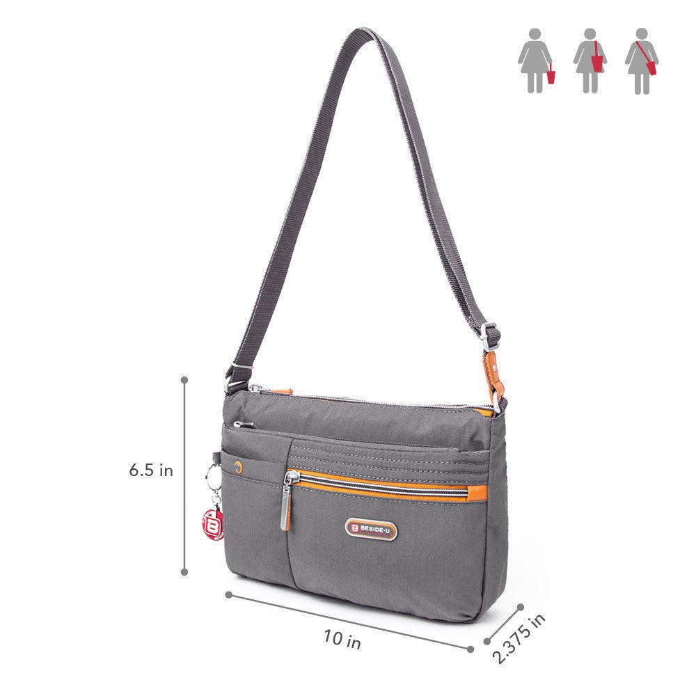 Crossbody Bag - Cimarron Two-Tone Small Crossbody Bag Size [Castlerock Grey]