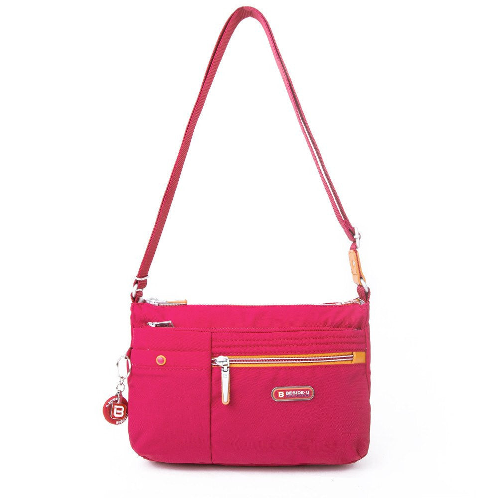 Crossbody Bag - Cimarron Two-Tone Small Crossbody Bag Front [Heart Red]