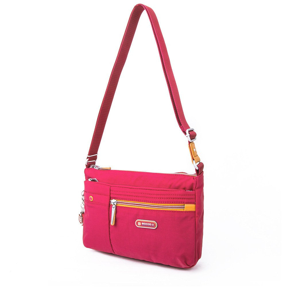Crossbody Bag - Cimarron Two-Tone Small Crossbody Bag Angled [Heart Red]