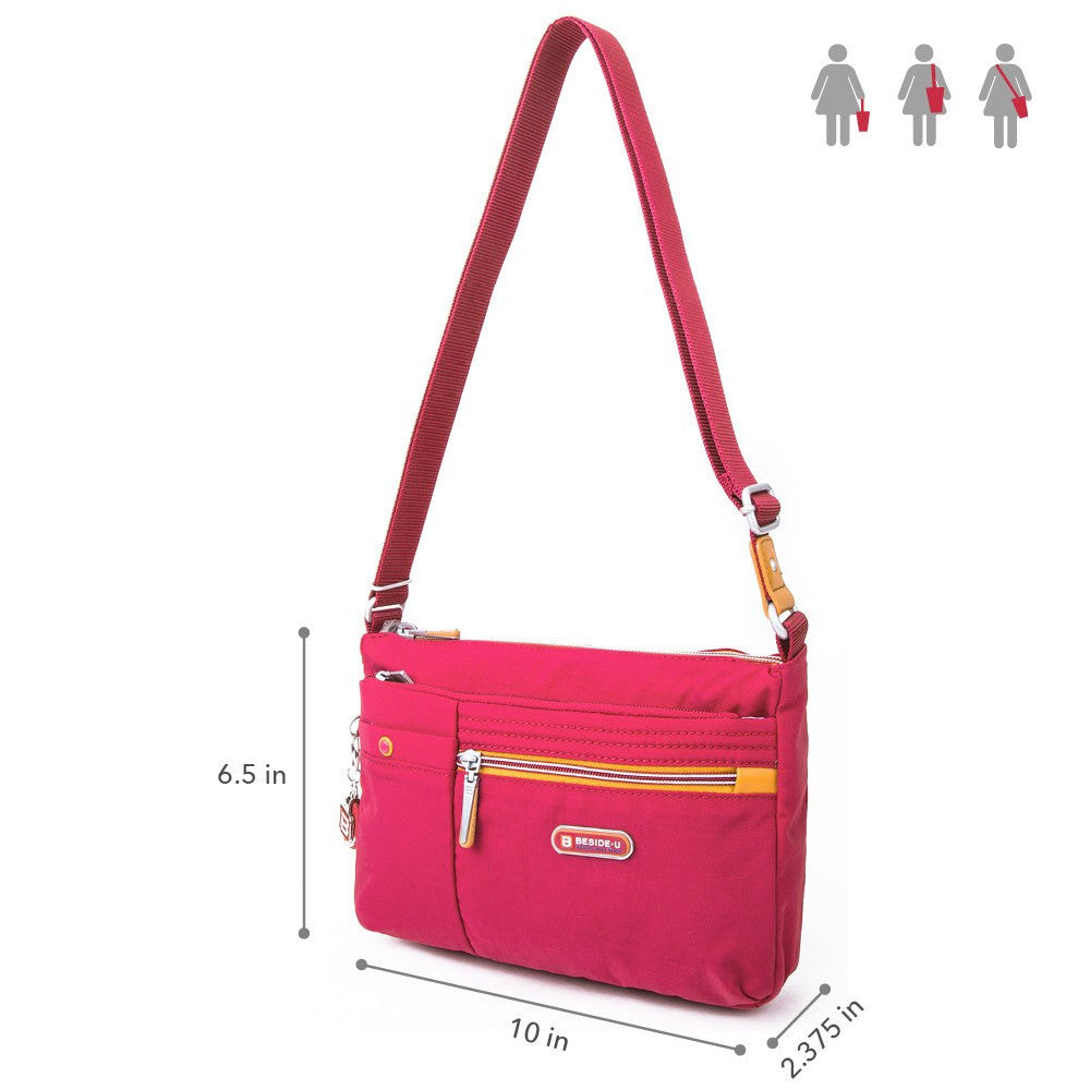 Crossbody Bag - Cimarron Two-Tone Small Crossbody Bag Size [Heart Red]