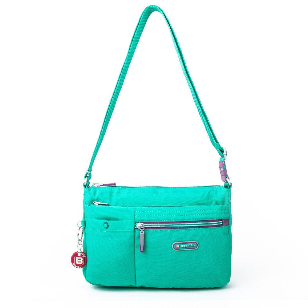 Crossbody Bag - Cimarron Two-Tone Small Crossbody Bag Front [Atlantis Teal Blue]