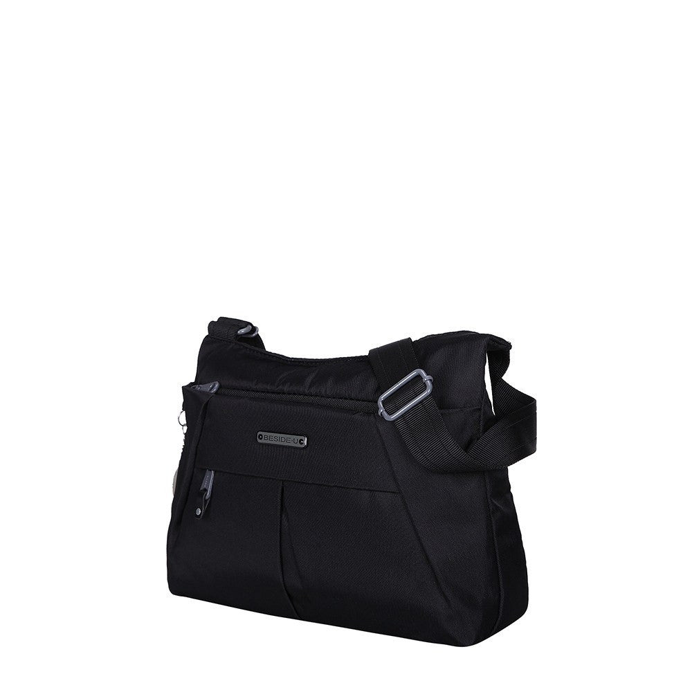 Crossbody Bag - Danica RFID Pocket Medium Crossbody Bag Angled [Black]