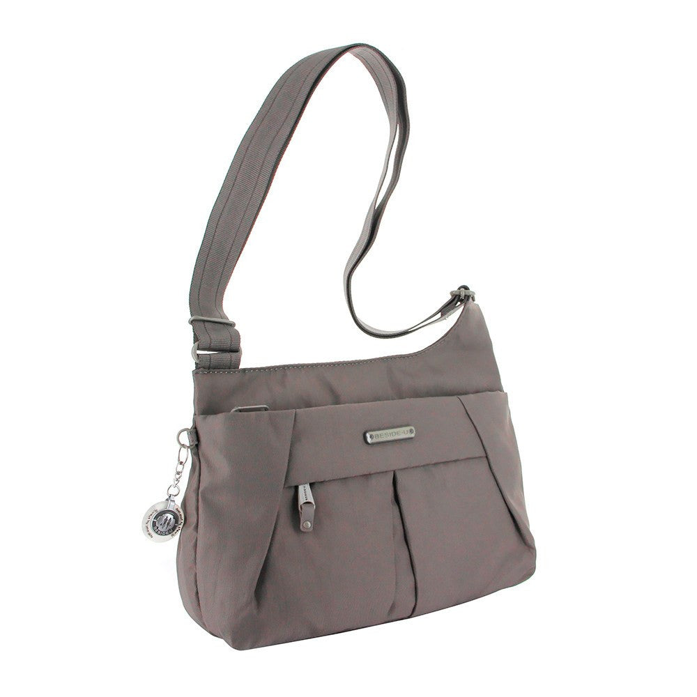 Crossbody Bag - Danica RFID Pocket Medium Crossbody Bag Angled [Cord Brown]
