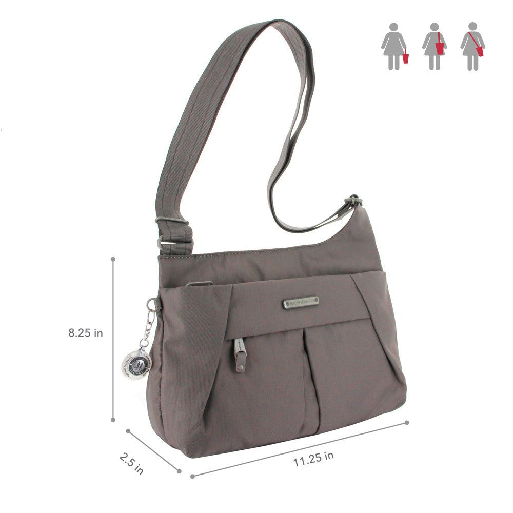 Crossbody Bag - Danica RFID Pocket Medium Crossbody Bag Size [Cord Brown]