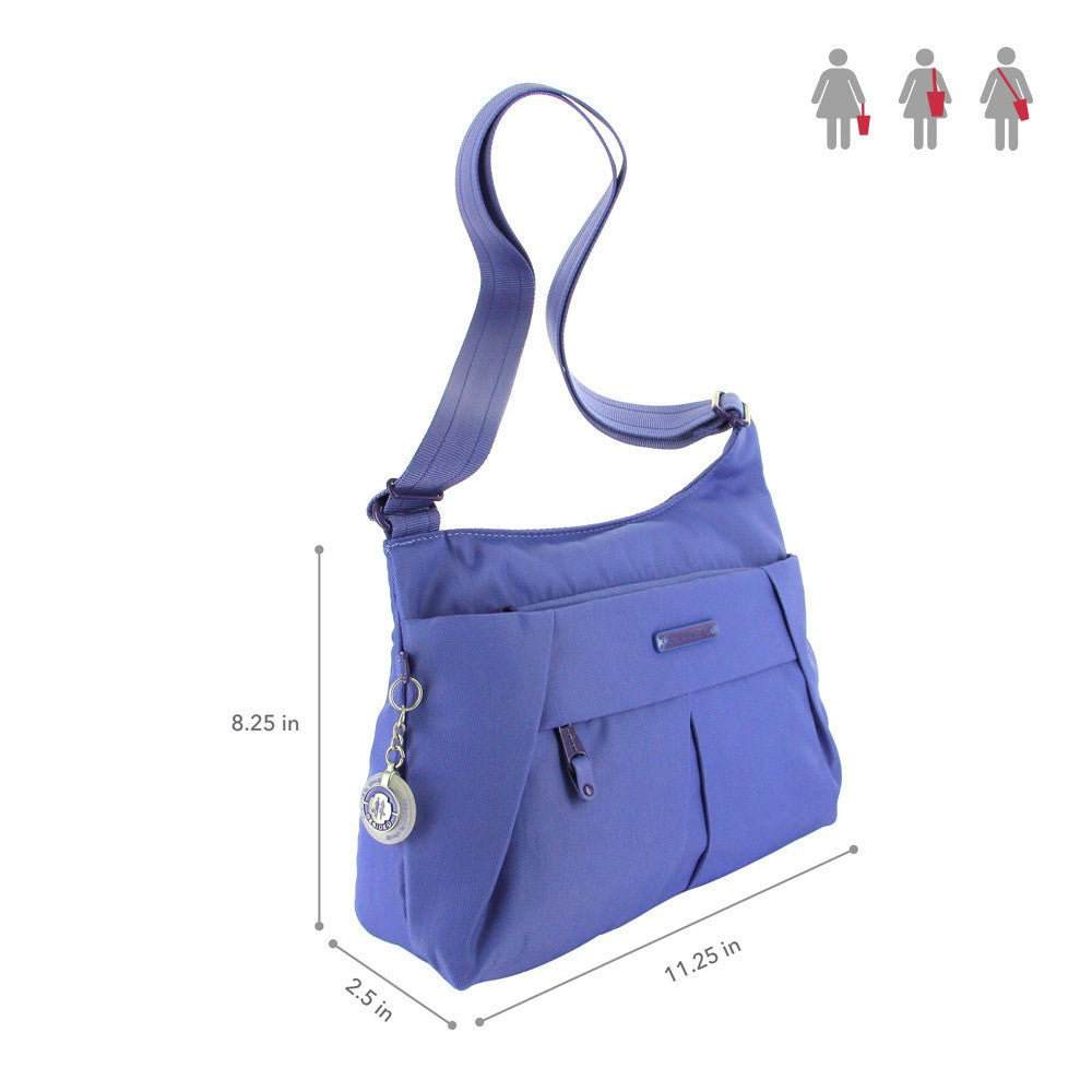 Crossbody Bag - Danica RFID Pocket Medium Crossbody Bag Size [New Amparo Blue]