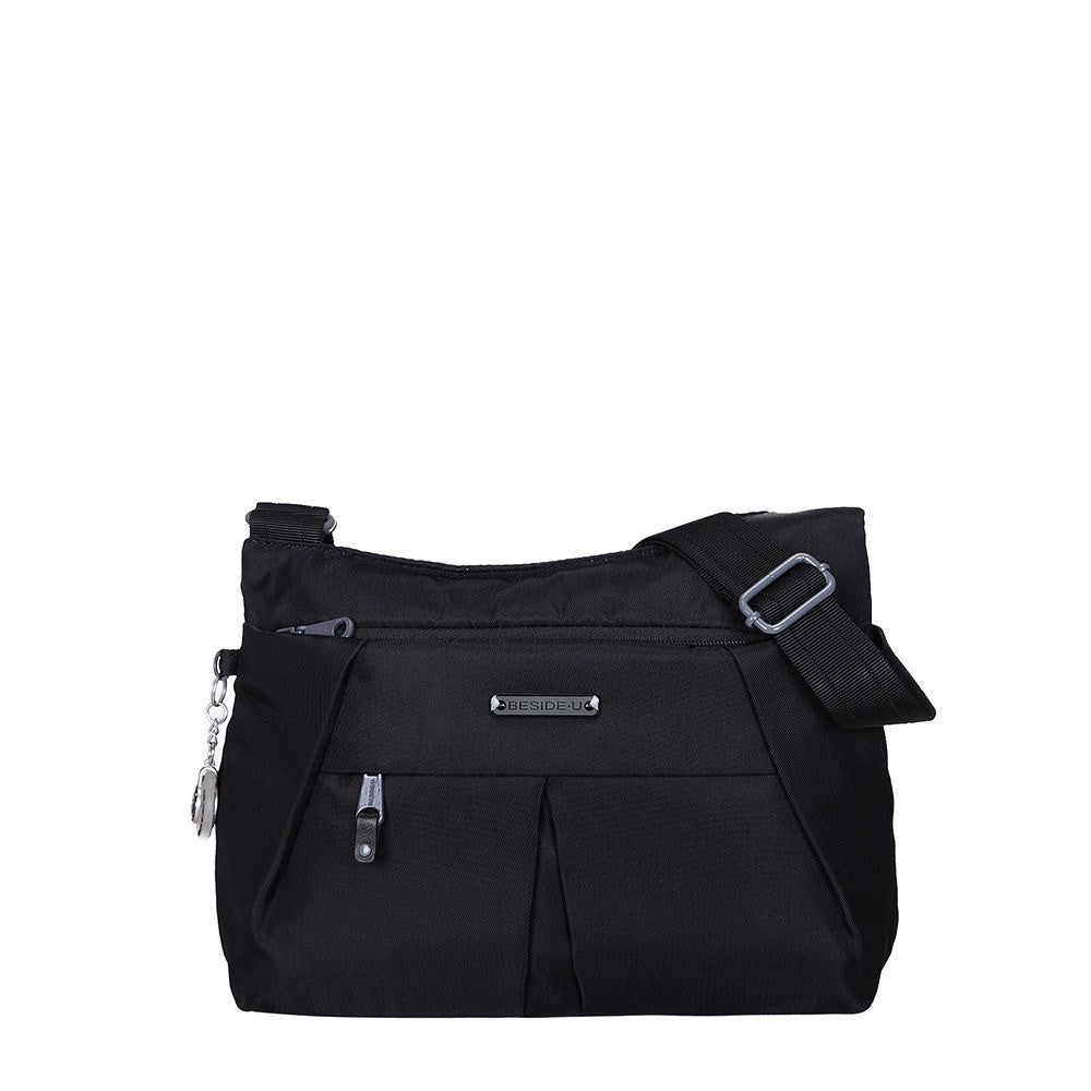 Crossbody Bag - Danica RFID Pocket Medium Crossbody Bag Front [Black]
