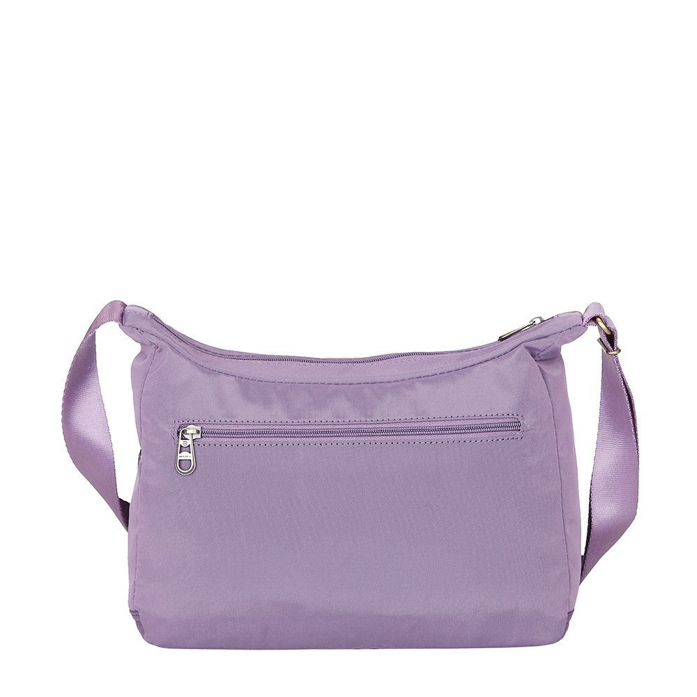 Crossbody Bag - Flores Leather Trimmed Travel Crossbody Bag Back [Grapeade Purple]