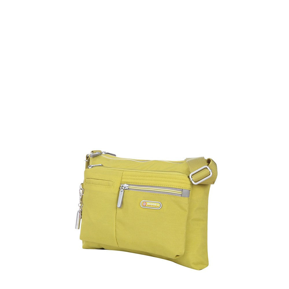 Crossbody Bag - Genoa Two-Tone Casual Crossbody Bag Angled [Citronelle Green]
