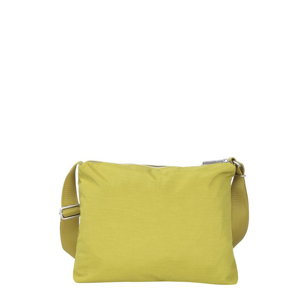 Crossbody Bag - Genoa Two-Tone Casual Crossbody Bag Back [Citronelle Green]