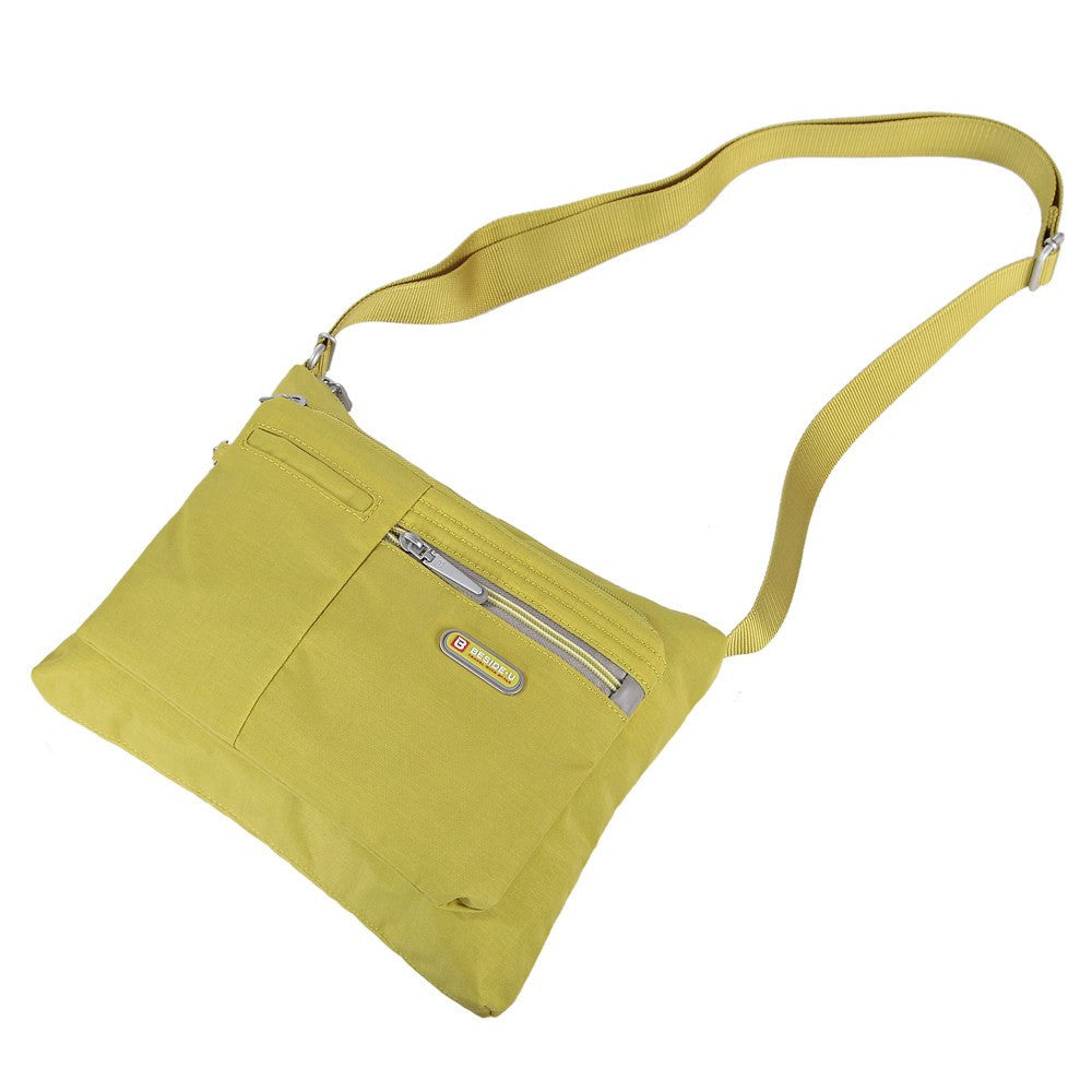 Crossbody Bag - Genoa Two-Tone Casual Crossbody Bag Lying Down [Citronelle Green]