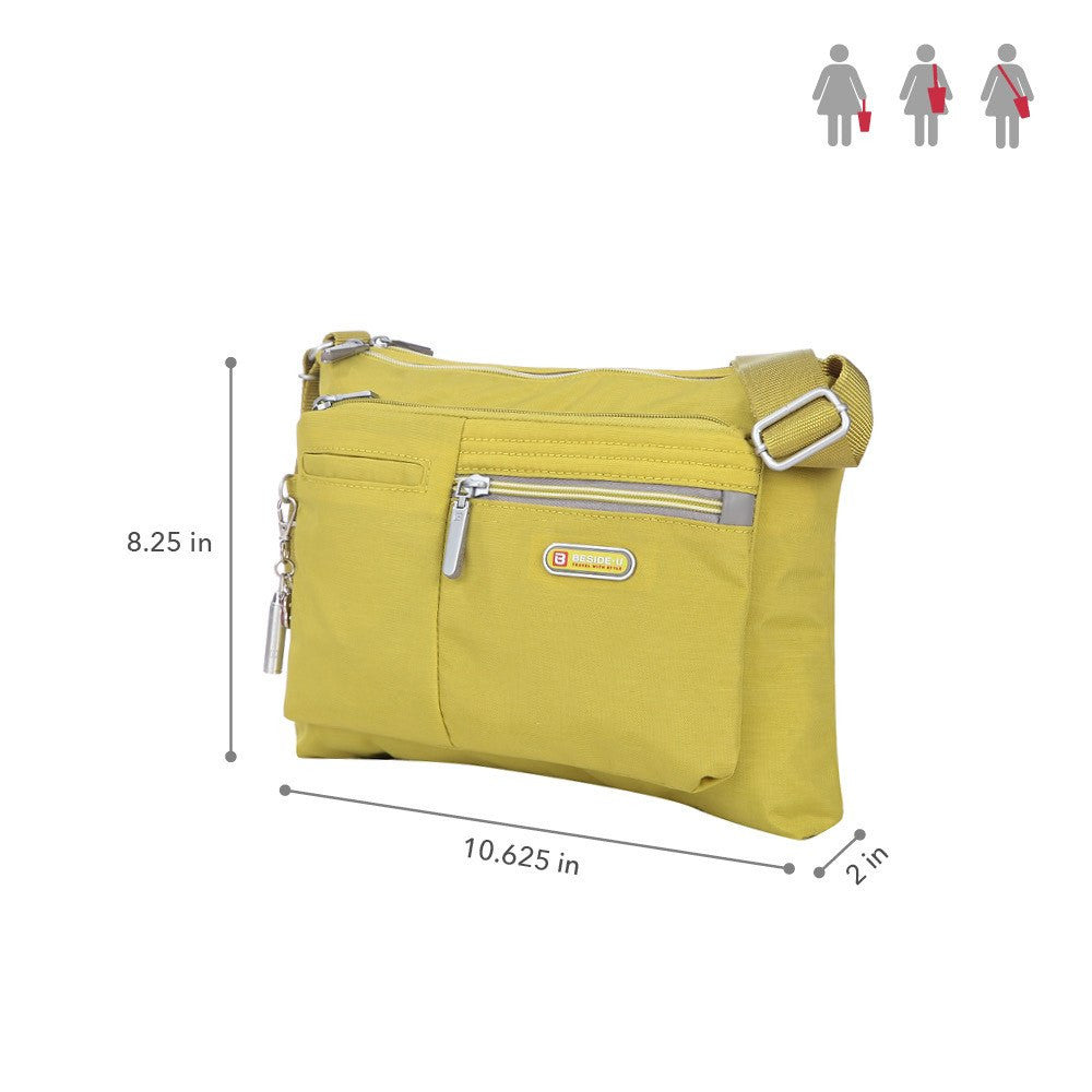 Crossbody Bag - Genoa Two-Tone Casual Crossbody Bag Size [Citronelle Green]
