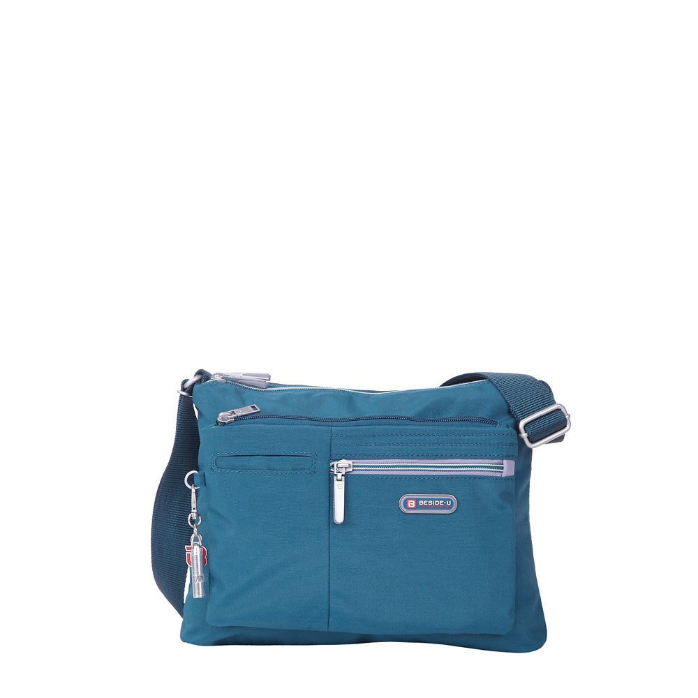 Crossbody Bag - Genoa Two-Tone Casual Crossbody Bag Front [Navy Blue]
